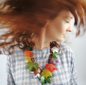 Maple Leaves Statement Necklace - MissJ Designs