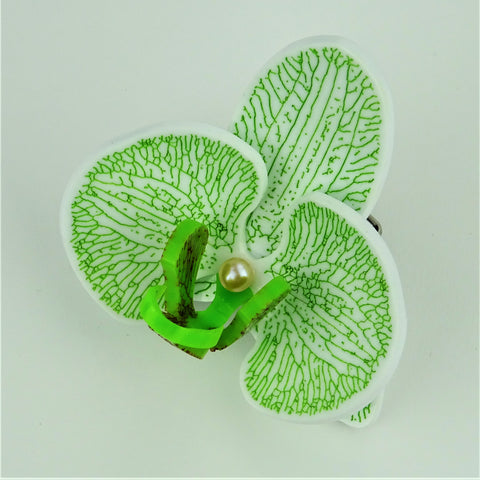 Fiery Apple Green Limited Edition Orchid Brooch