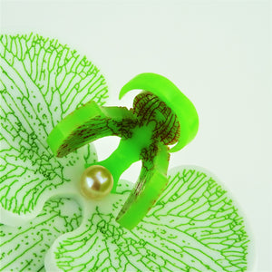 Fiery Apple Green Limited Edition Orchid Brooch LIMITED EDITION - MissJ Designs