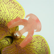 Golden Pink  Limited Edition Orchid Brooch