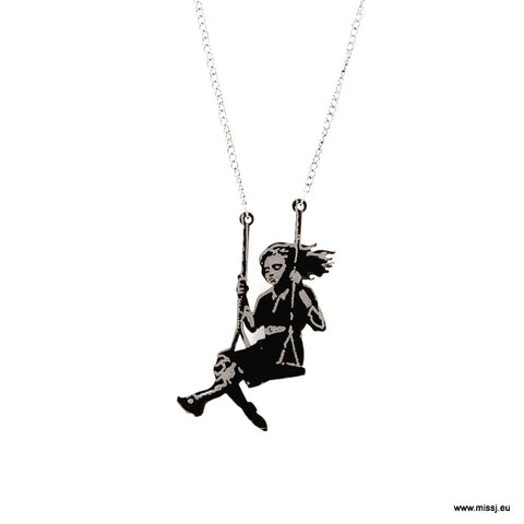 Banksy Girl on Swing