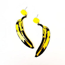 Andy Warhol Banana Earrings