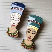 Queen Nefertiti Bust Brooch