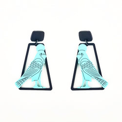 Caged Falcon Earrings