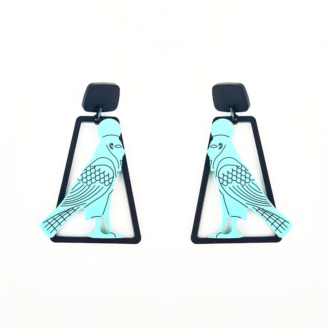 Caged Falcon Earrings - MissJ Designs