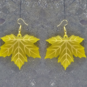 Maple Leaf Earrings - MissJ Designs