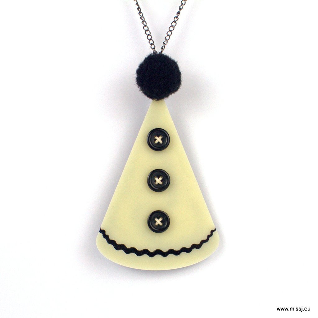 Pierrot Hat Necklace