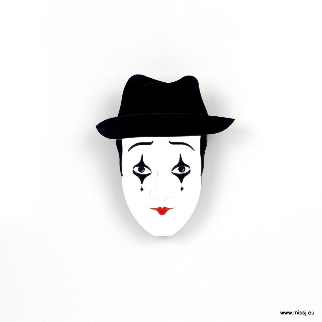 Mime Brooch - MissJ Designs
