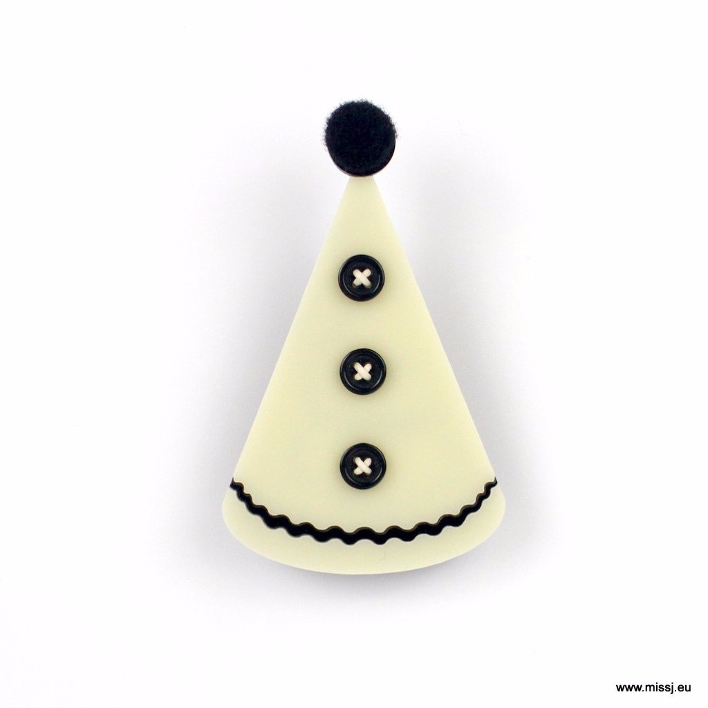 Pierrot Hat Brooch - MissJ Designs