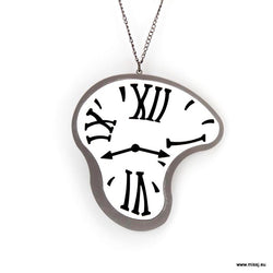 Dali Melting Clock Necklace - MissJ Designs