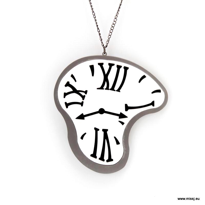 p product clock htm necklace swallow steampunk