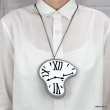 Dali Melting Clock Necklace