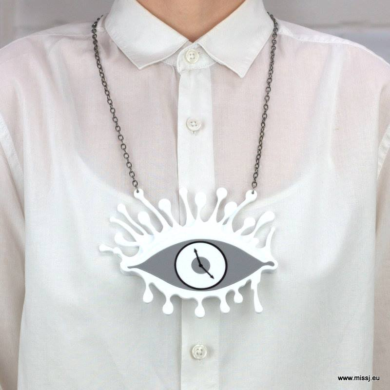 Dali Eye Clock Necklace - MissJ Designs