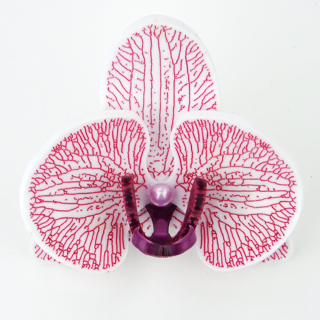 Original Pink on Purple Limited Edition Orchid Brooch - MissJ Designs