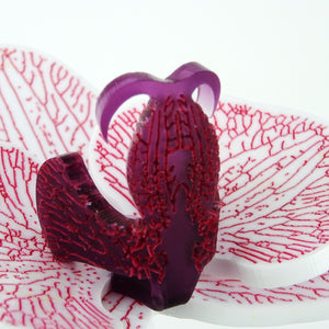 Original Pink on Purple Limited Edition Orchid Brooch