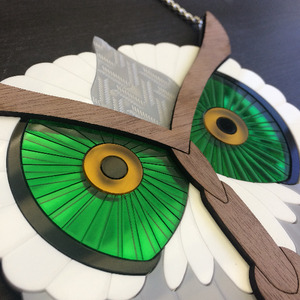 Barn owl necklace statement piece