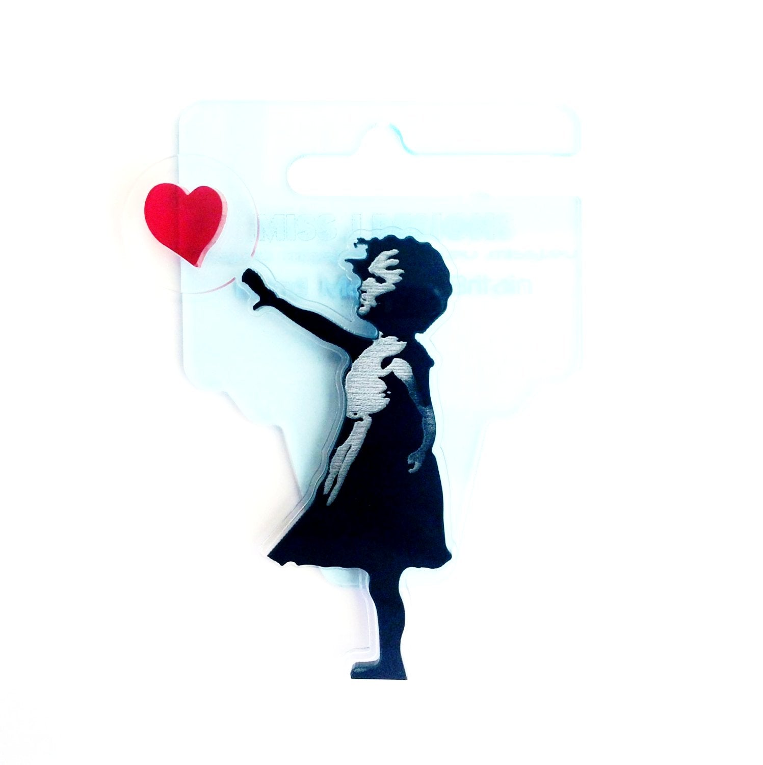 Banksy Girl With a Floating Heart Brooch