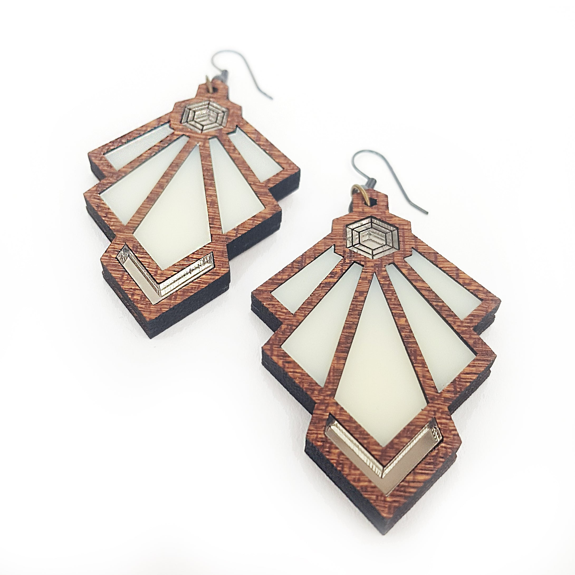 Art Deco Tulip Earrings Ivory Variant
