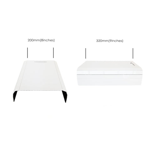 Sofa Arm Tray White Acrylic