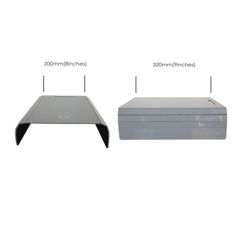 Sofa Arm Tray Gray Acrylic