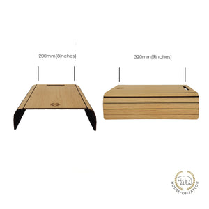 Sofa Arm Tray in Natural Oak - MissJ Designs