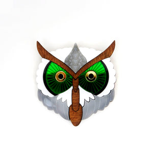 Barn Owl Brooch - MissJ Designs