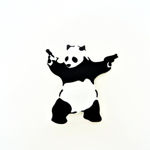 Banksy Panda with Guns Brooch by MissJ www.missj.eu