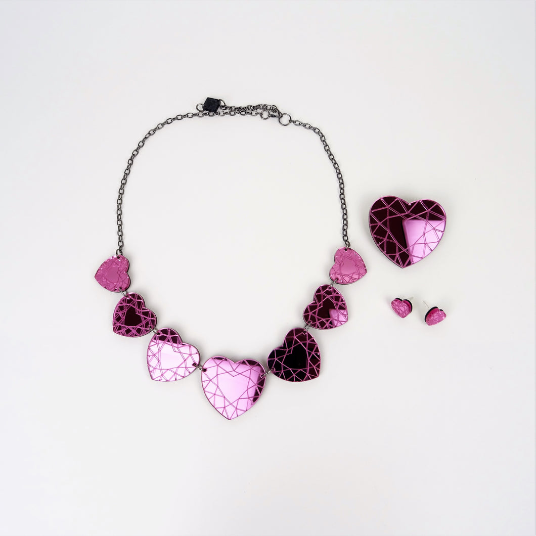 Valentine's Heart Diamond Set - MissJ Designs