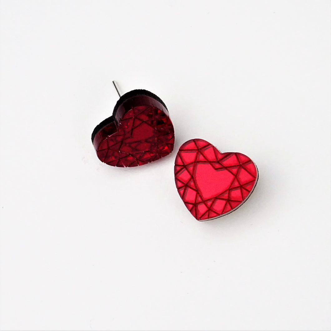 Heart Diamond Earrings - MissJ Designs