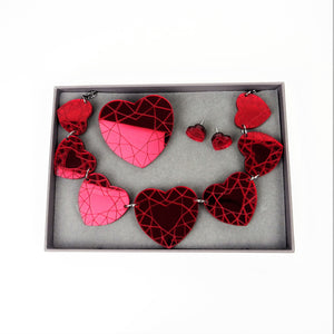 Heart Diamond Brooch - MissJ Designs