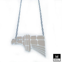 Chrysler Building Hawk Statement Necklace
