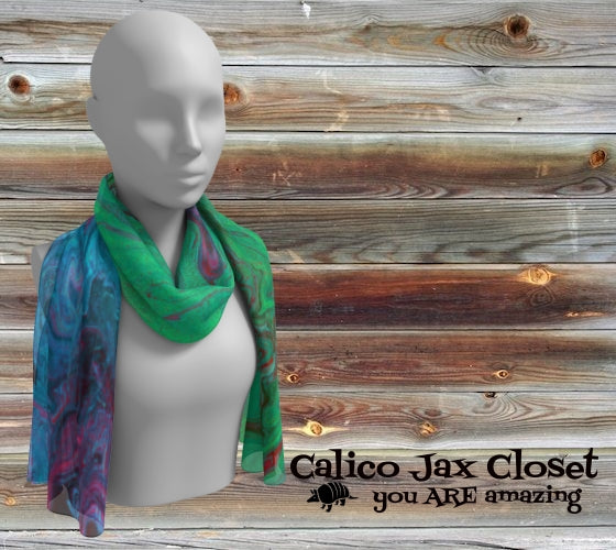 Ever Changing Color Long Scarf