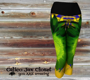 Unique Flower Yoga Capris