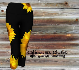 Sunflower State of Mind Yoga Capri