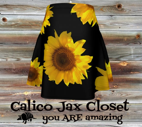 Sunflower State of Mind Flare Skirt