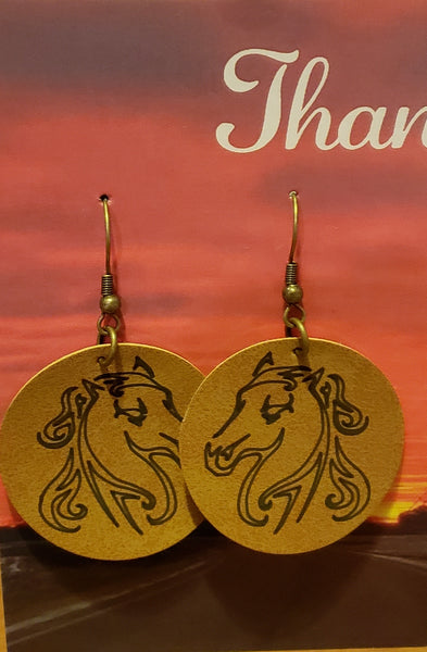 Pretty pony earrings