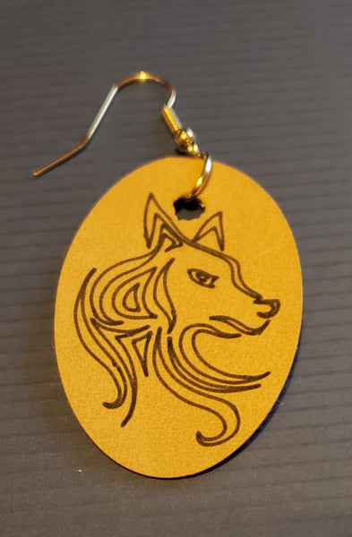 Beautiful wolf earrings