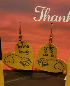 Love bug earrings