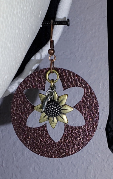 Sunflower earrings
