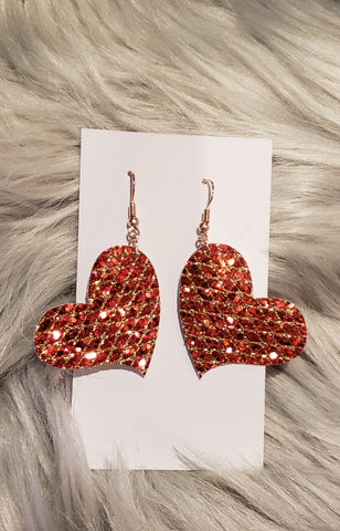 Brilliant heart earrings