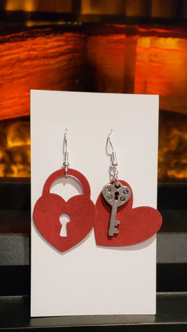 Unlock your heart earrings