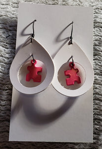 Pink peices earrings
