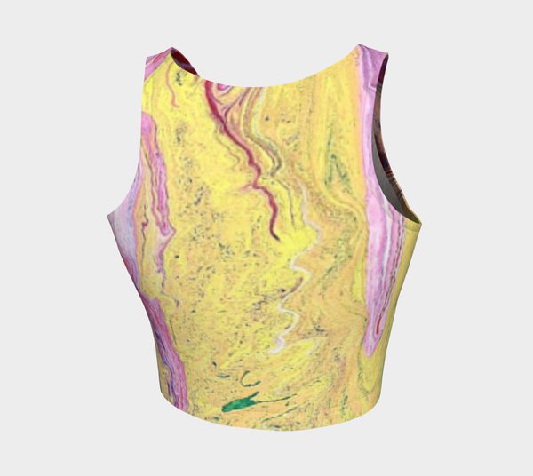 Running Color Athletic Crop Top
