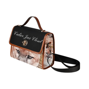 Lion Eyes Waterproof Canvas Bag