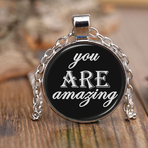 Classic you ARE amazing necklace