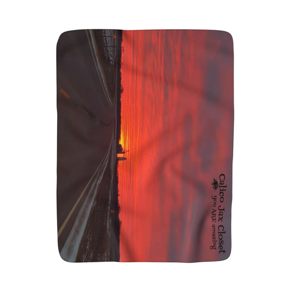 Off into the Sunset Sherpa Fleece Blanket