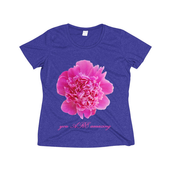 Blooming Amazing Women's Heather Wicking Tee