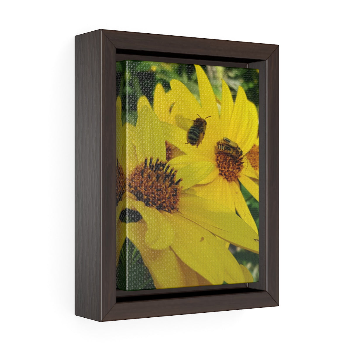 Beehave Vertical Framed Premium Gallery Wrap Canvas