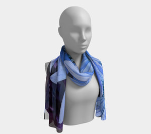 Beautiful in blue long scarf