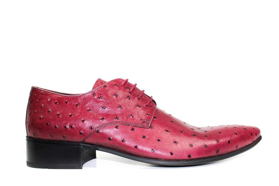 MEN Shoes - BURGUNDY OSTRICH